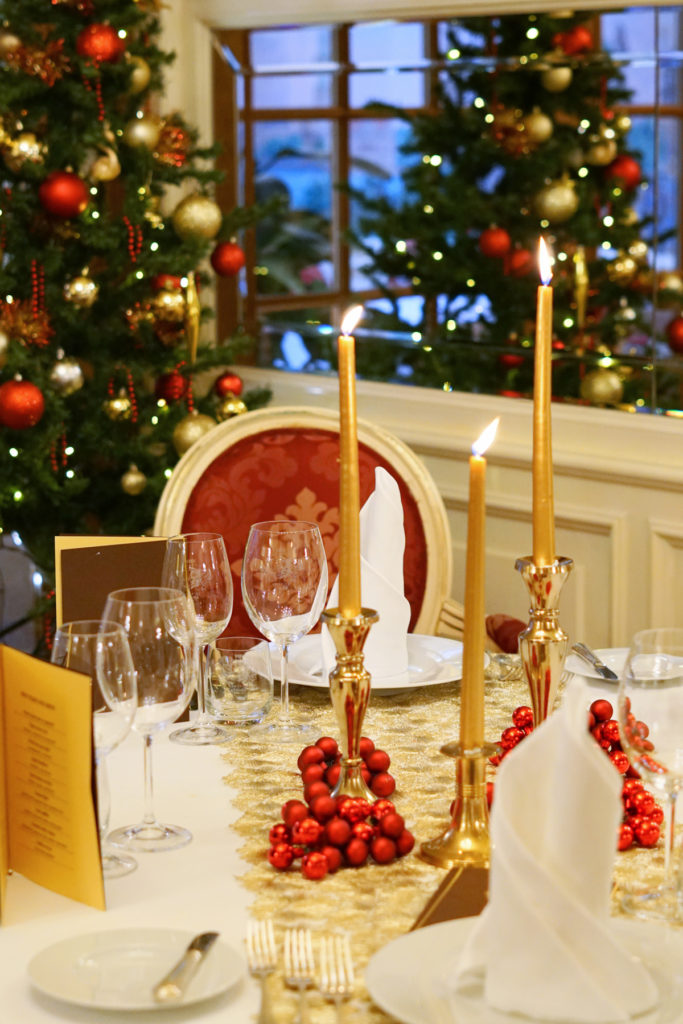 Sváteční menu v luxusní restauraci