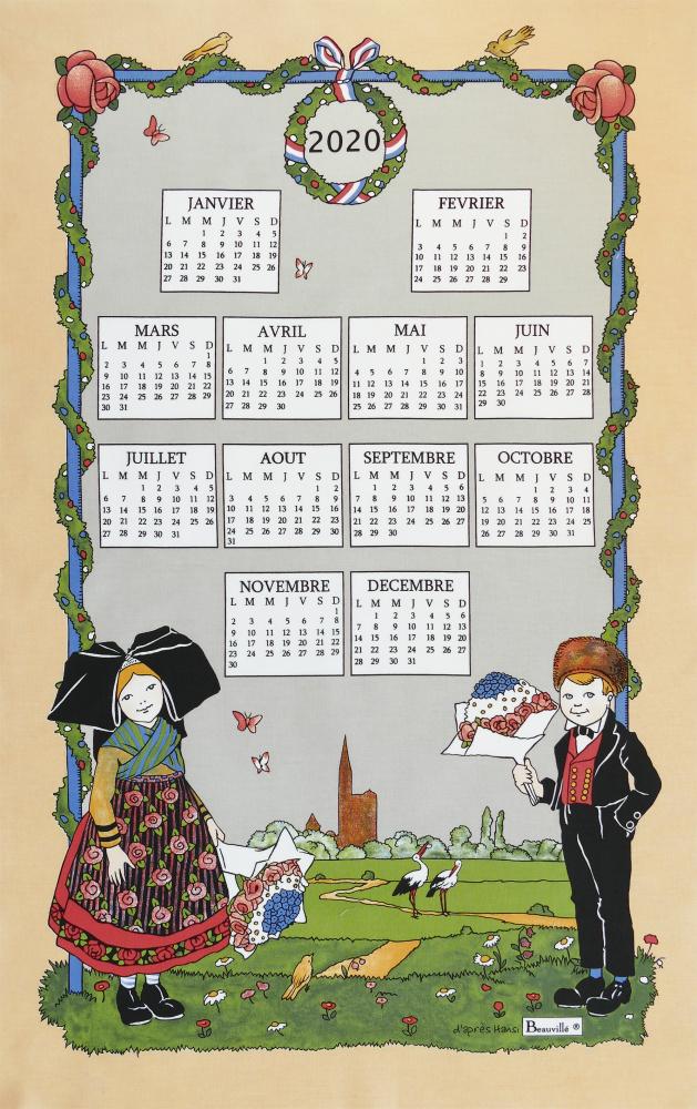 Utěrky Beauvillé navazují na starou tradici textilních kalendářů