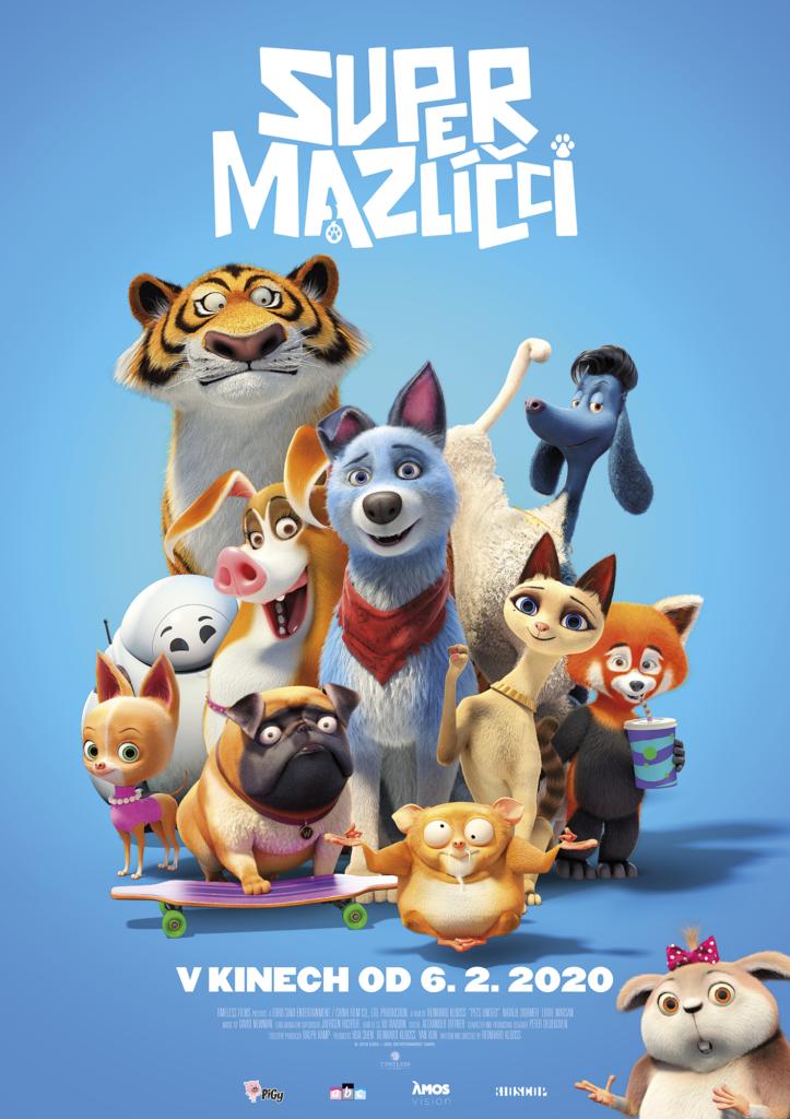 Animované rodinné dobrodružství Super mazlíčci míří do kin