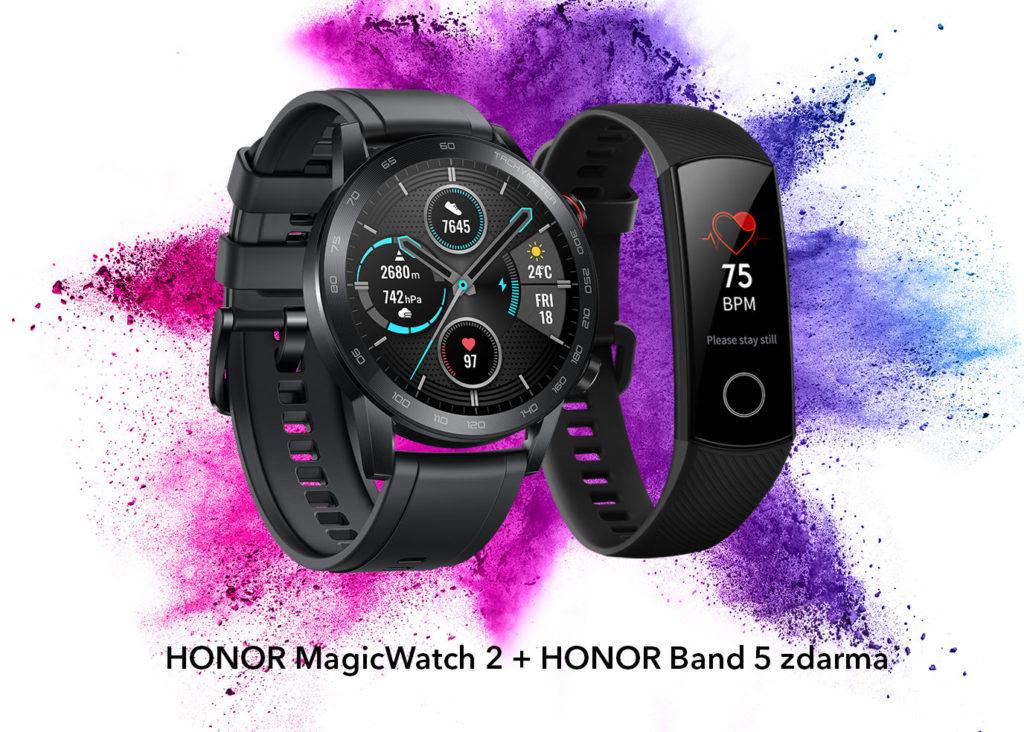Chytré hodinky HONOR MagicWatch2 právě nyní s fitness náramkem HONOR Band 5 zdarma