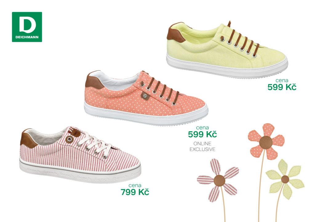 Rozšiřte svou sbírku bot o plátěné tenisky