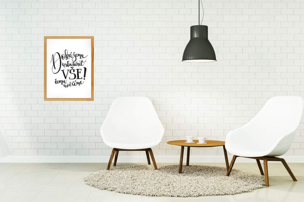 Designovým hitem proměny interiéru jsou vyměnitelná plátna