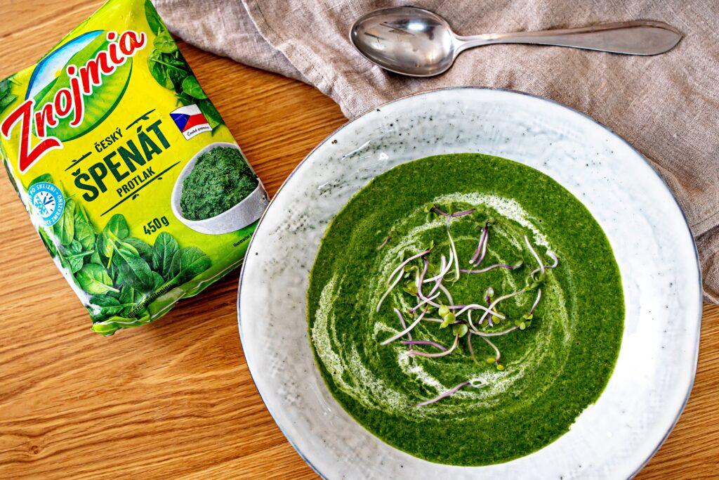 Rychlá špenátová polévka