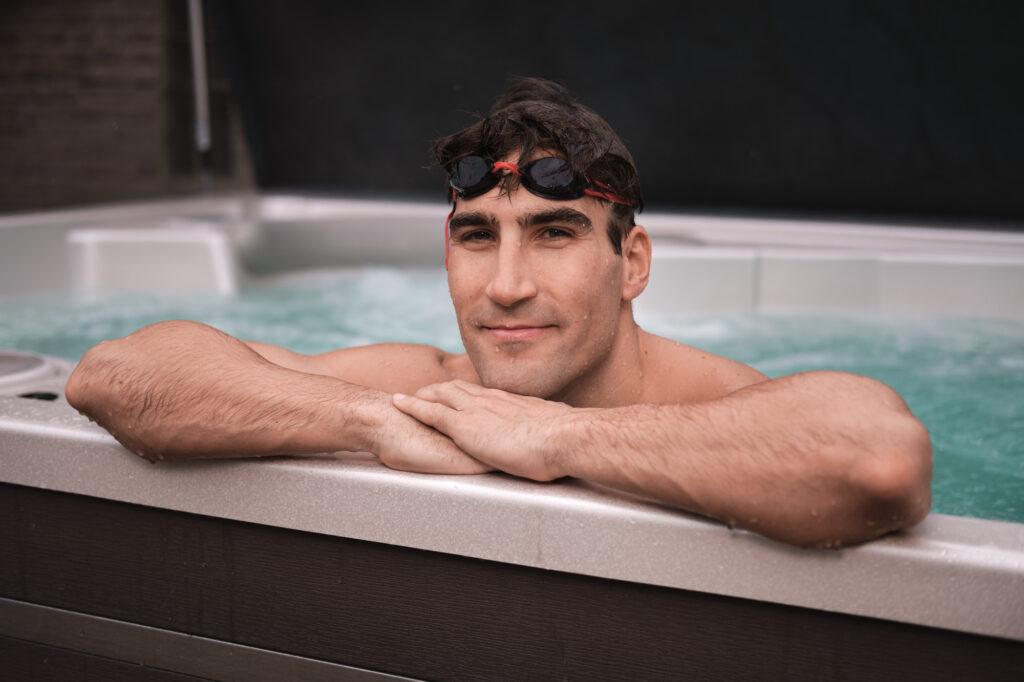 Olympionik David Svoboda si zaplaval ve vířivce