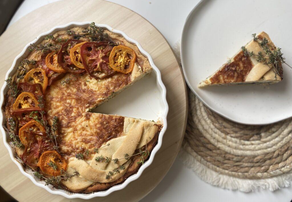 Quiche se třemi druhy španělského sýra